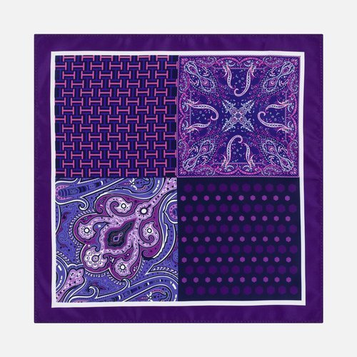 Poszetka Multi Pattern Violet