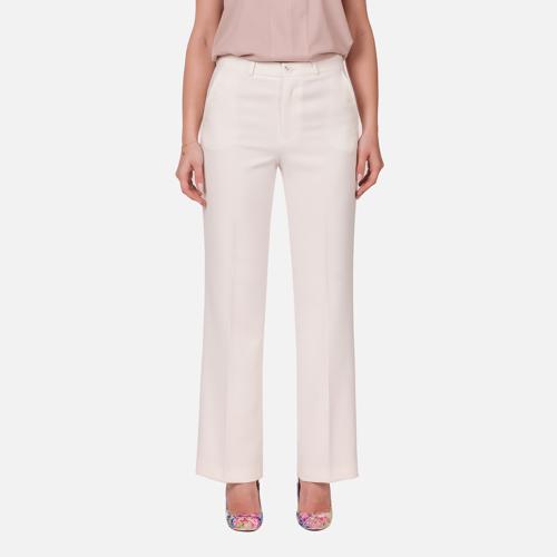 Spodnie damskie Oversize White