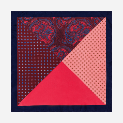 Poszetka Multi Pattern Red